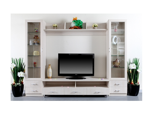 组合电视柜-印尼白木