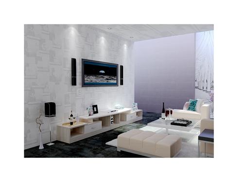 组合电视柜-北美黄杉暖白