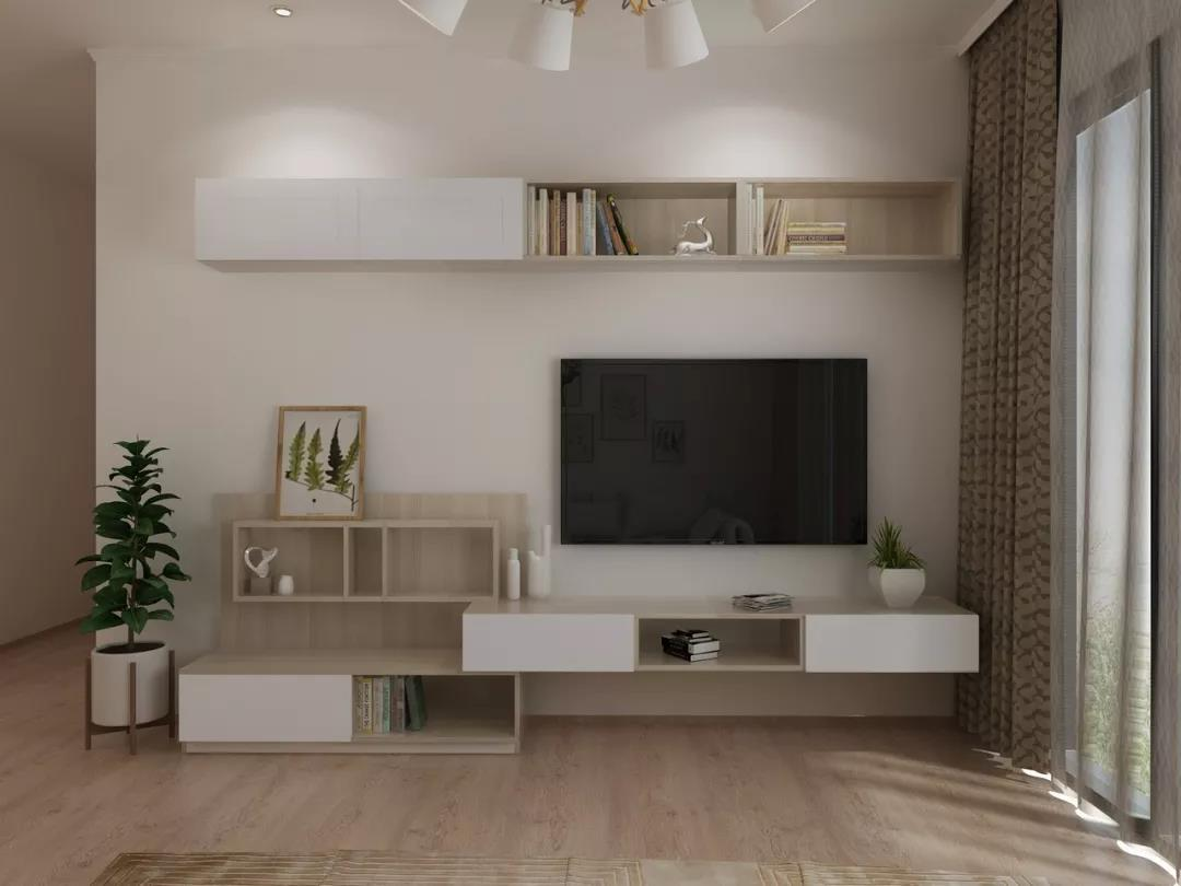 现代日式电视柜设计案例,自然简洁,沉静干练!